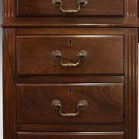 Antique Partner's Desk, English, Mahogany, Leather, Writing Table, Edwardian (11 of 12)