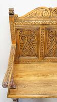 Good Quality  Reproduction  Carved Oak Settle or Hall Seat (17 of 17)