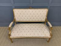 19th Century French Giltwood Settee (2 of 15)
