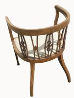 Edwardian Mahogany & Inlaid Tub Chair (5 of 5)