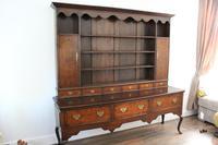 George III 3 Drawer Oak Dresser with Rack