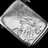 Antique Victorian Solid Silver Vesta Case Aesthetic Style Engravings - Joseph Whitten 1885 (9 of 9)