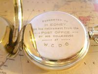 Pocket Watch 1937 Swiss 15 Jewel 9ct Rose Gold Filled Half Hunter FWO (10 of 12)