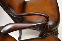 Pair of Georgian Style Leather & Mahogany Armchairs c.1930 (7 of 11)