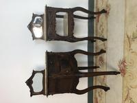 Antique French Walnut Bedside Cabinets Marble Tops & Mirrors Pot Cupboards (13 of 16)
