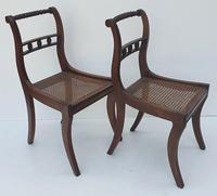 Pair of Early 19th Century Regency Mahogany Chairs (2 of 4)