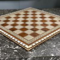 Rosewood bone and mother of Pearl chess board (3 of 7)