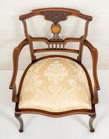 Very Pretty Art Nouveau Mahogany Elbow Chair (8 of 10)