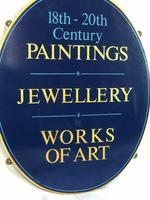 Antique Shop Advertising Sign 18th-20th Century Paintings Jewellery Works Of Art (4 of 12)