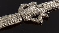 Art Deco Marcasite Ruby Paste Lizard Bracelet (9 of 16)
