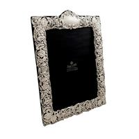 "Antique Edwardian Sterling Silver 11 1/2"" Photo Frame 1902"