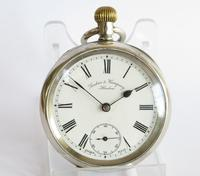 Antique Silver Omega Pocket Watch for Sanders & Co (2 of 6)