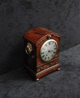 English Late Regency Mahogany Timepiece Mantel Clock (6 of 9)