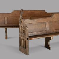 Fabulous Pair of 19th Century English Oak Pews (2 of 6)