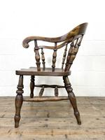 Antique 19th Century Smoker's Bow Chair (8 of 9)