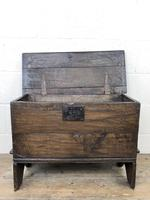 Small 18th Century Joined Oak Coffer (6 of 18)