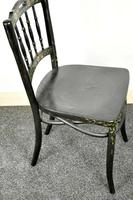 Bentwood Vintage Ebony / Black Floral Print Chair (2 of 9)