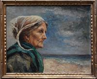 French School Exhibition Portrait Bretonne Fisherwoman c.1930 (10 of 36)