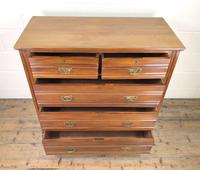 Antique Edwardian Satinwood Chest of Drawers (4 of 10)