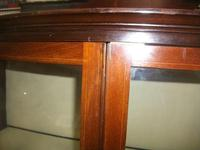 Bow Front Inlaid Mahogany Glazed Cabinet on Tapered Legs (3 of 6)