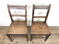 Four 19th Century Oak Back Bar Chairs (9 of 10)