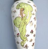 Margaret E Thomson : Royal Doulton Lambeth Faience Vase Mucha Style C.1900 (6 of 10)