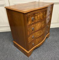 Re Finished Burr Walnut Serpentine Chest of Drawers (8 of 10)