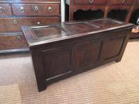 George I Period Oak Six Plank Coffer (3 of 10)