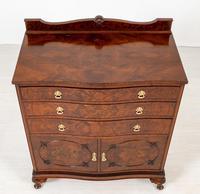 Burr Walnut Serpentine Chest / Cabinet (5 of 9)