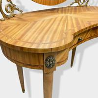 French Bleached Kidney Shaper Dressing Table (3 of 6)