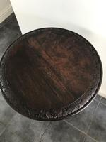 Victorian Burr Walnut Occasional Table with Fantastic Carvings (5 of 6)