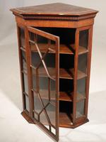 Late Georgian Period Oak Glazed Corner Cupboard (3 of 5)