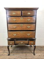 Antique 18th Century George II Oak Chest on Stand (M-652) (10 of 12)
