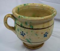 Antique 19th century Rustic Italian Chamber Pot