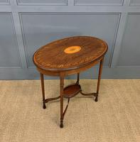 Fine Quality Oval Inlaid Mahogany Occasional Table (13 of 16)