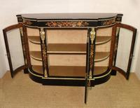 Victorian Ebonised & Marquetry Display Cabinet (7 of 7)