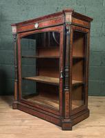 Superb ebonized and amboyna glazed pier cabinet (8 of 8)