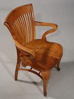 Well-Formed Early 20th Century Golden Oak Desk Chair (4 of 5)