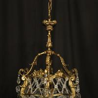 French Gilded Bronze Antique Chandelier (4 of 10)