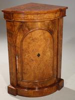 Extremely Rare Mid 19th Century  Burr Walnut Corner Standing Cupboard (2 of 5)