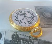 Vintage Pocket Watch 1970s Railroad 12ct Gold Plated West Germany Nos (4 of 11)
