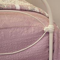 Cream Victorian Cast Iron Bedstead with Hoop Over Design (3 of 10)