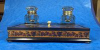Victorian Rosewood & Tunbridge Ware Inkstand by Thomas Barton (22 of 24)