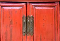Excellent Pair of Chinese Red Lacquered Cabinets / Cupboards c.1900 (3 of 15)
