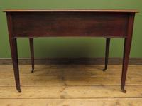 Antique Writing Table with Drawers and Aged Leather Top (14 of 19)