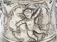 Flared Top Silver Plant Pot with Cherub Decoration - London 1898 (3 of 7)