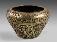 Late 19th Century Eastern Brass Jardinere (3 of 4)