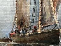 Scottish Marine Oil Painting Sailing Fishing Boats on the Tay Estuary by Dundee (15 of 23)