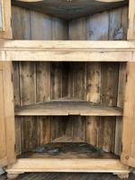Victorian Stripped Pine Corner Cupboard with Glazed Top (3 of 11)