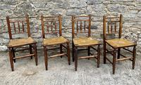 Set of 4 Antique Elm Country Chairs (11 of 13)